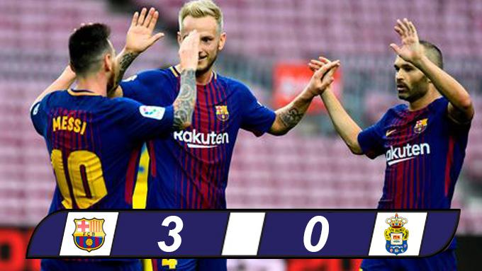 Messi với cú đúp giúp Barca chiến thắng
